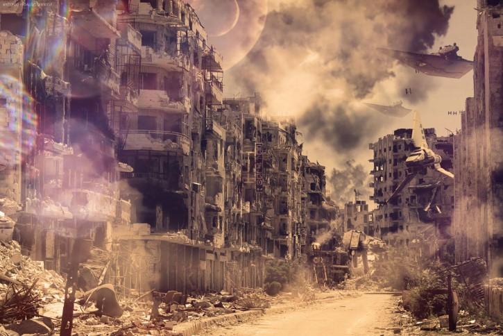 ciudad destruida apocalipsis
