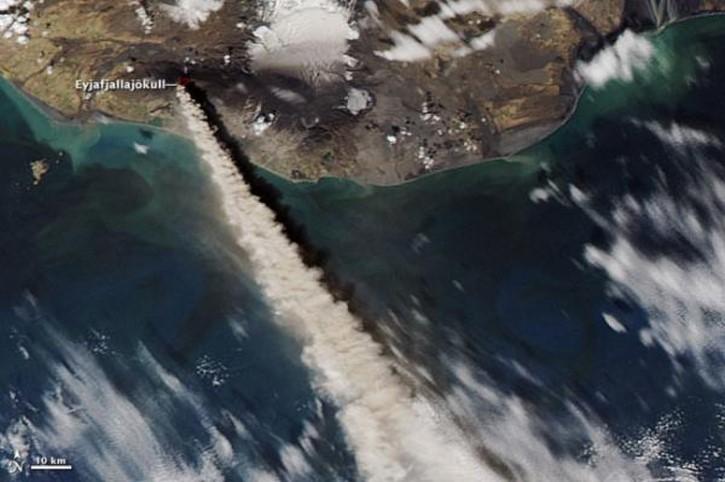 erupcion del volcan Eyjafjallajokull