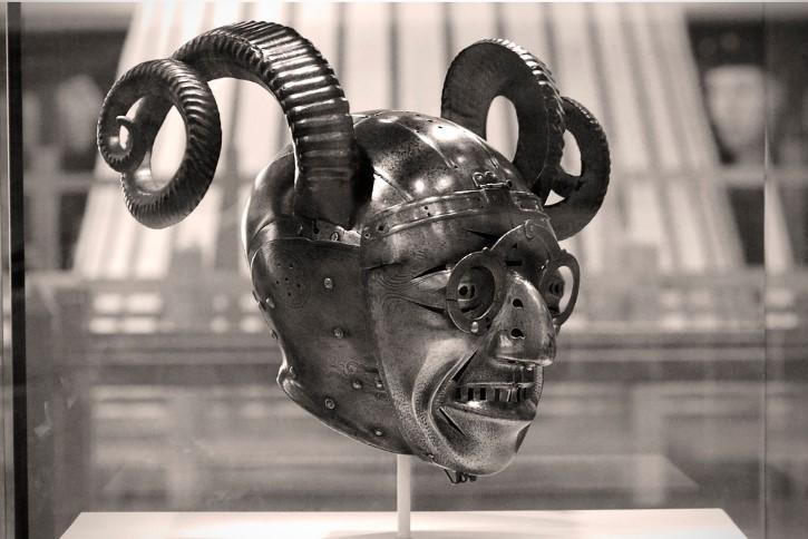 exhibicón del yelmo con cuernos en Leeds Enrique VIII