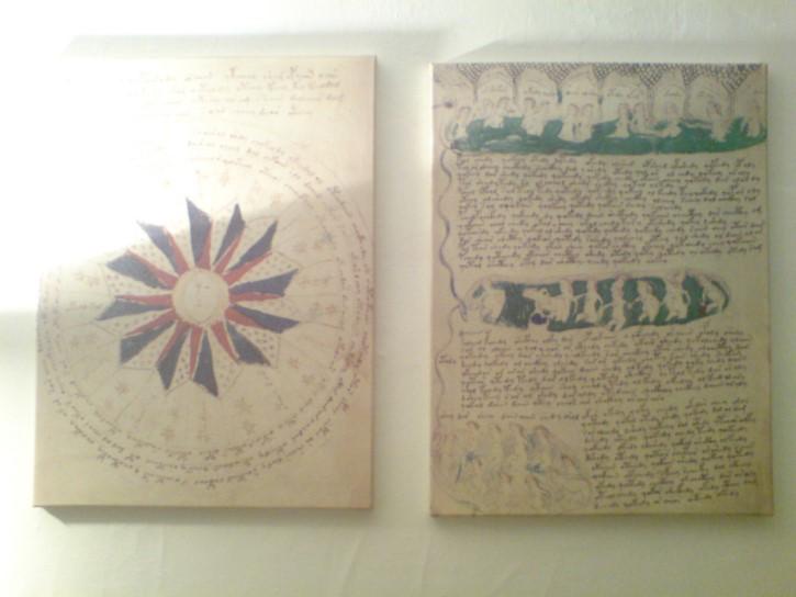 manuscrito voynich par de hojas