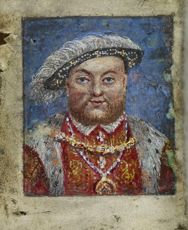 retrato pintura de Enrique VIII