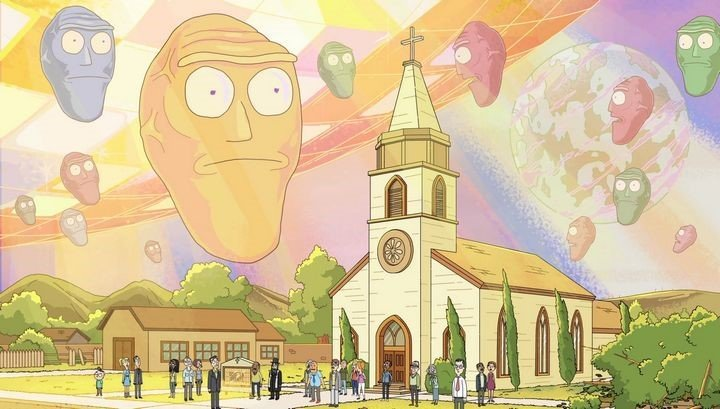 rick y morty invasion cabezas