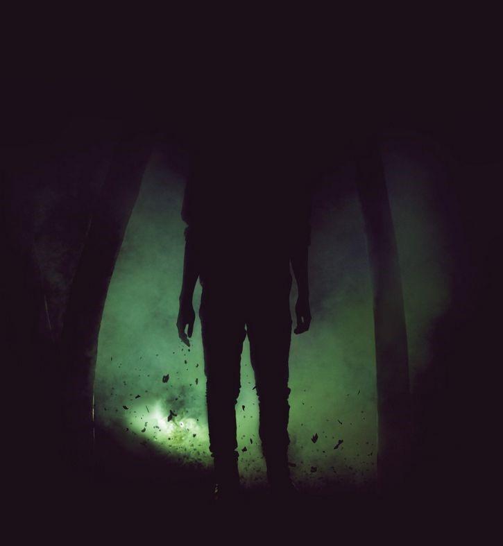 sombra en la oscuridad