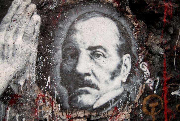 Allan Kardec fundador del espiritismo grafiti