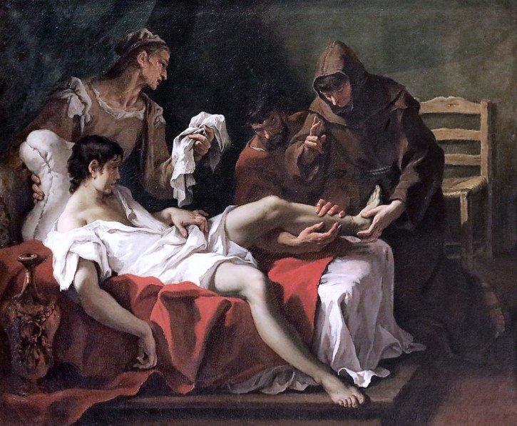 Antonio de Padua sanando joven amputado