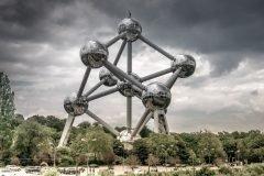 Atomium en bruselas edificio escultura