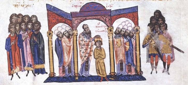 Coronación de Constantino VII