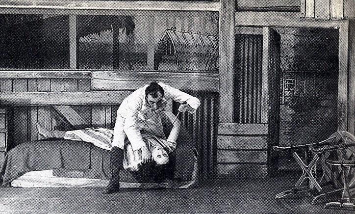 Grand Guignol escena asesinato