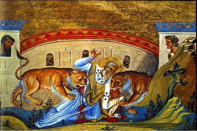 Ignacio de Antioquia devorado por leones