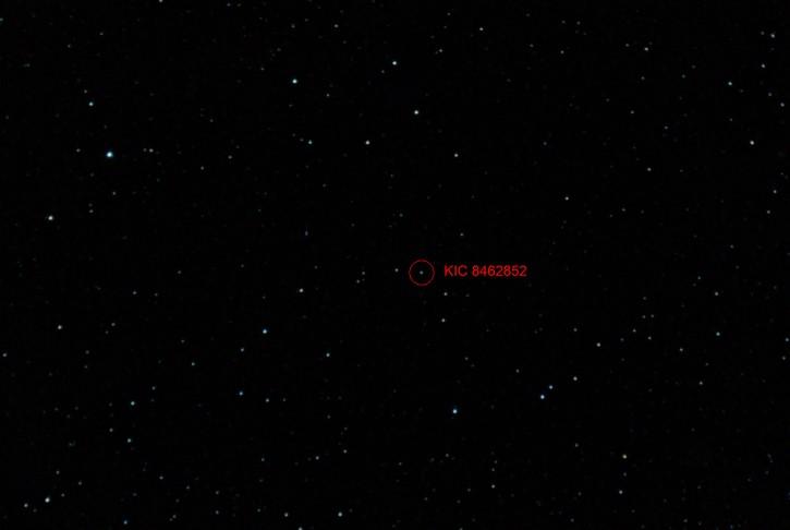 KIC 8462852 en el espacio
