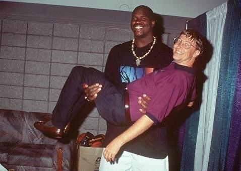Shaquille O'Neal Bill Gates