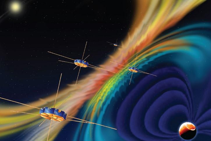 campos magneticos planeta vientos solares