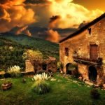 casa antigua paisaje