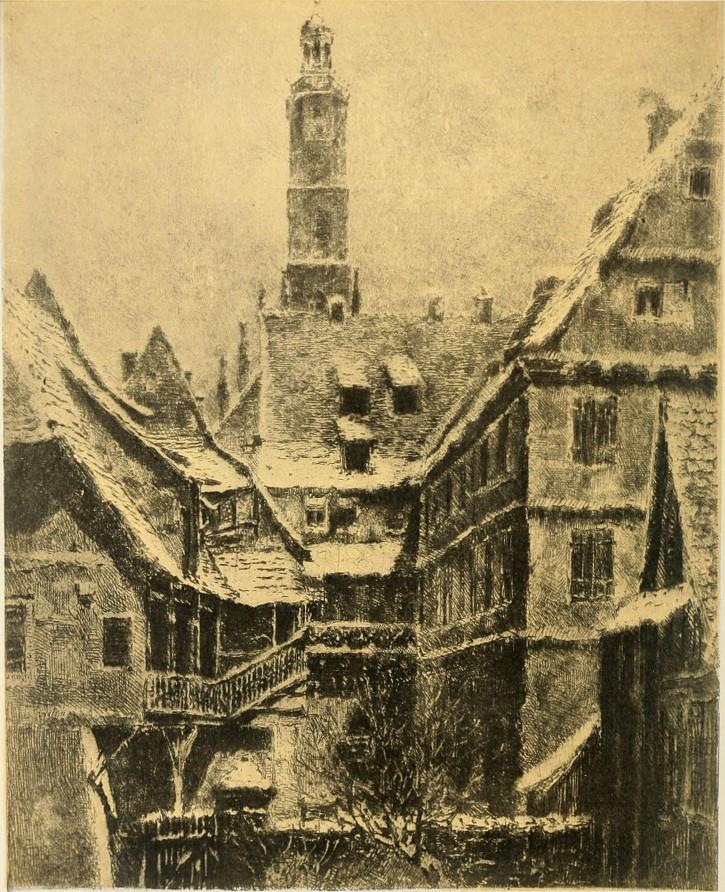 castillo real de nuremberg grabado