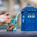 dinosaurio viajero del tiempo