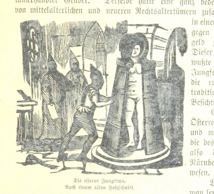 doncella de hierro grabado