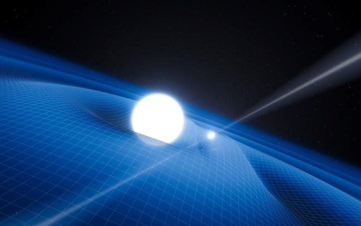 estrella de neutrones y una enana blanca