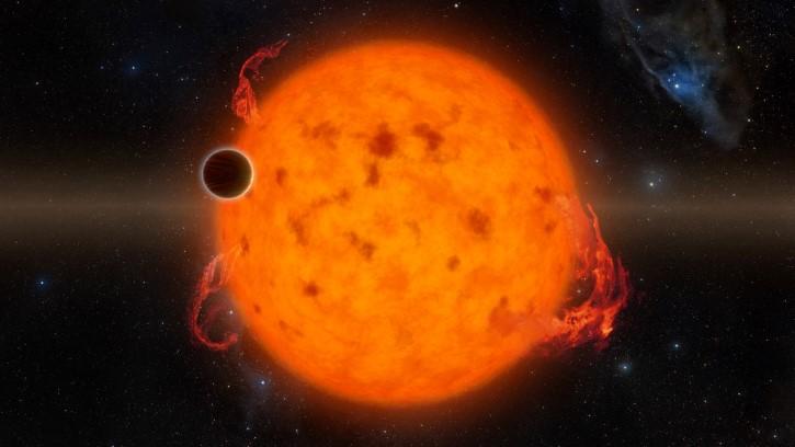 exoplaneta con estrella joven