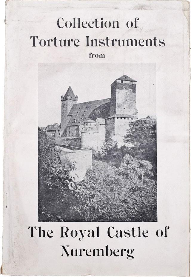 folleto de la Colección de Tortura del Castillo de Núremberg