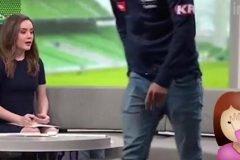 futbolista abandona entrevista