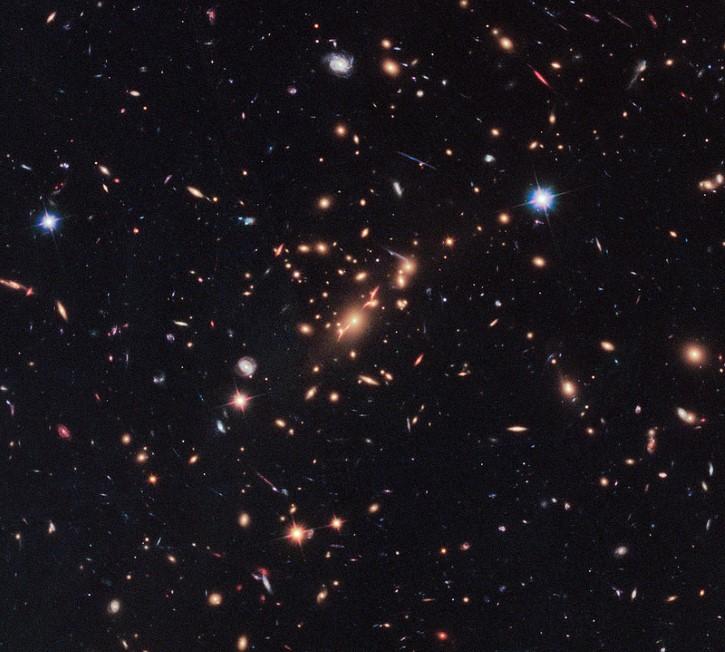 galaxias capturadas por el hubble