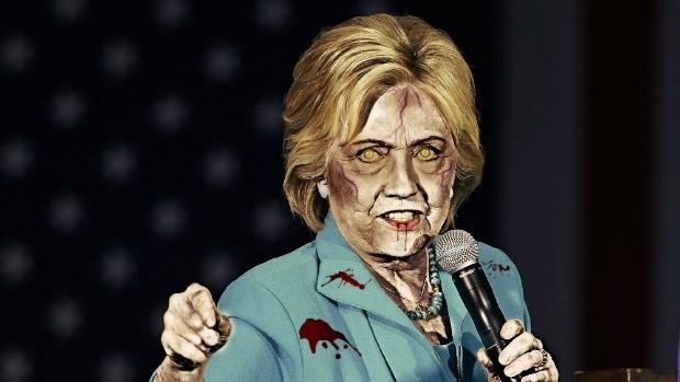 hillary clinton zombie