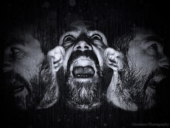 hombre atormentado