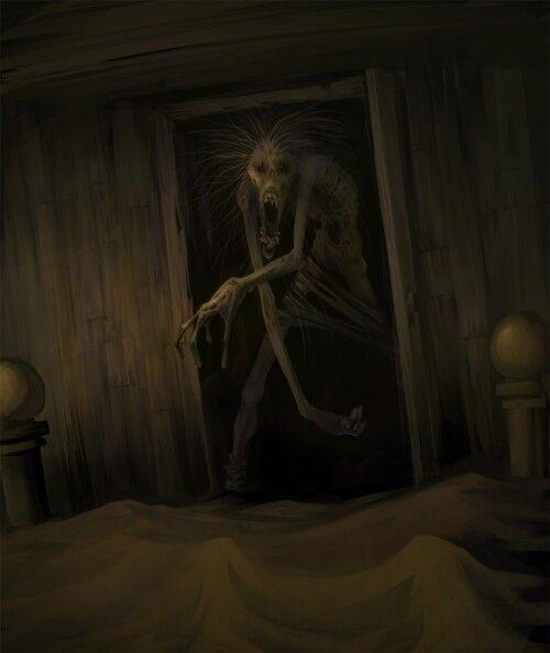 monstruo en la puerta terror