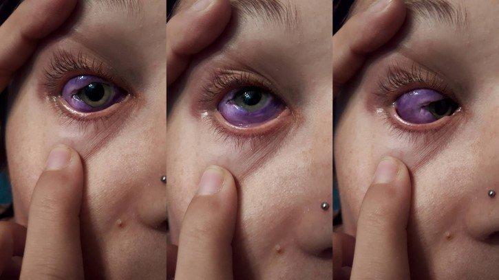 se tatua ojo de morado