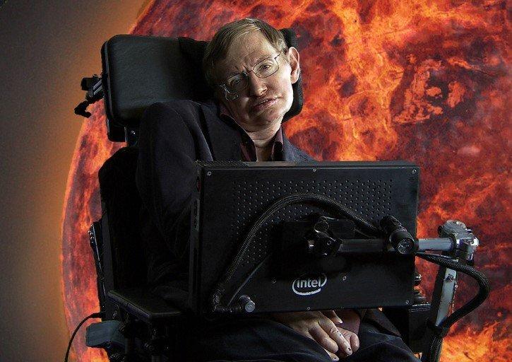 Stephen Hawking sol de fondo