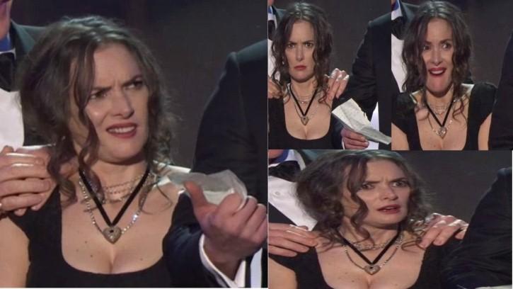Winona Ryder reacciones faciales