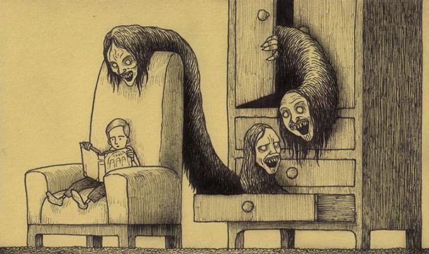 arte aterrador a lapiz