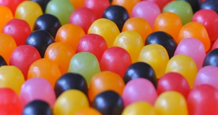 caramelos de colores close up