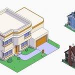 La casa de Los Simpson en diversos estilos de arquitectura