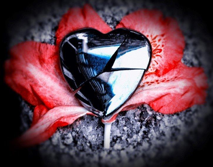 corazon roto flor