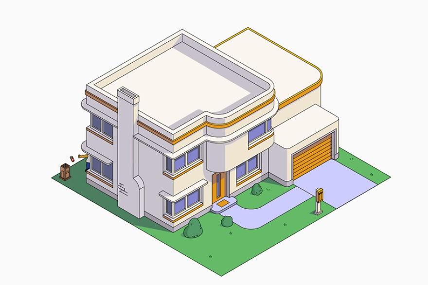 estilo casa los simpson art deco