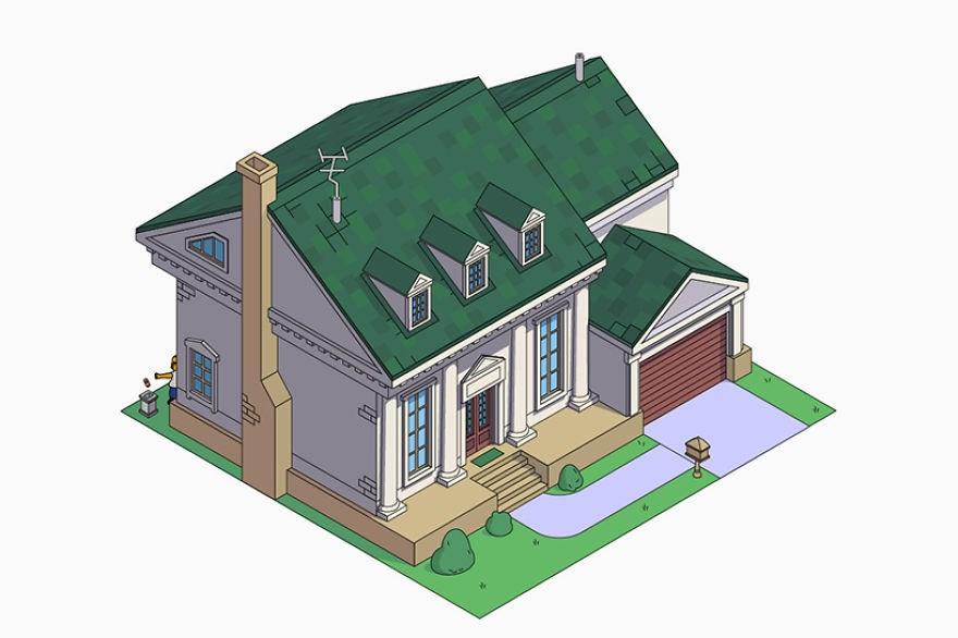estilo casa los simpson colonial