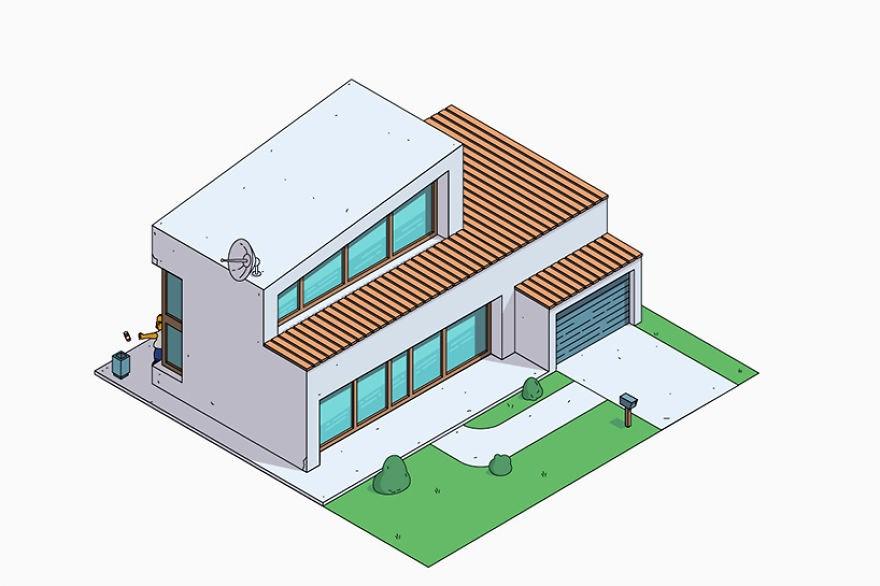 estilo casa los simpson contemporanea
