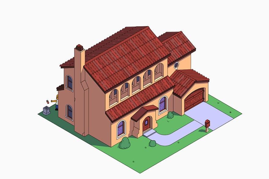 estilo casa los simpson mediterraneo