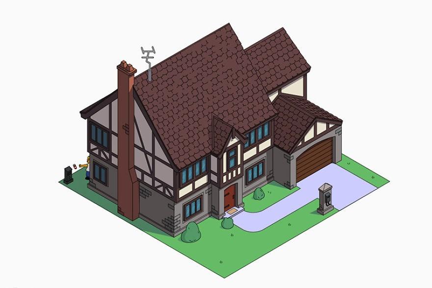 estilo casa los simpson tudor