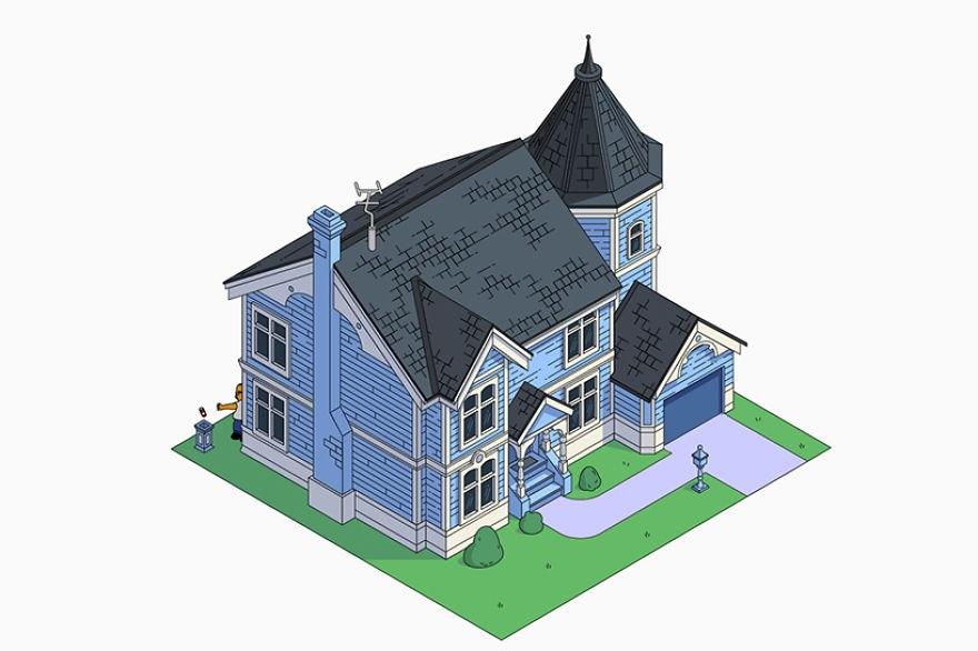 estilo casa los simpson victoriana