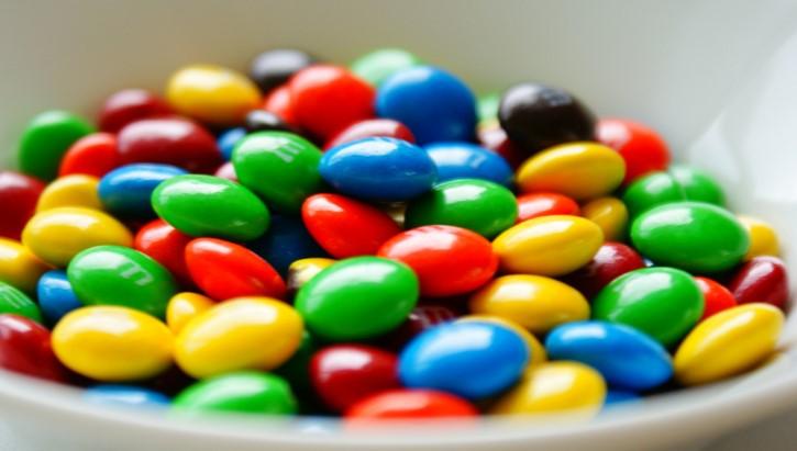 mms caramelos de chocolate