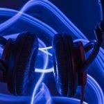onda de sonido auriculares