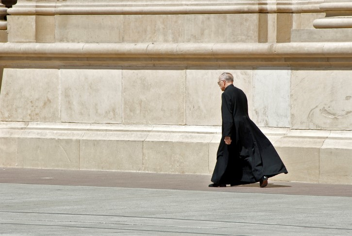 padre caminando