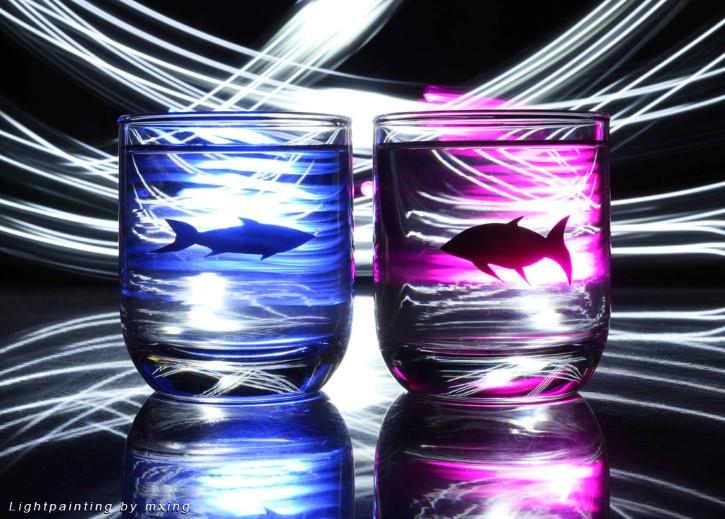 peces generos rosa y azul