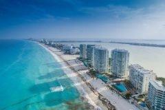 playa de cancun vista aerea