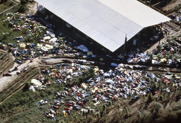 suicidio colectivo en Jonestown en Guyana 1978
