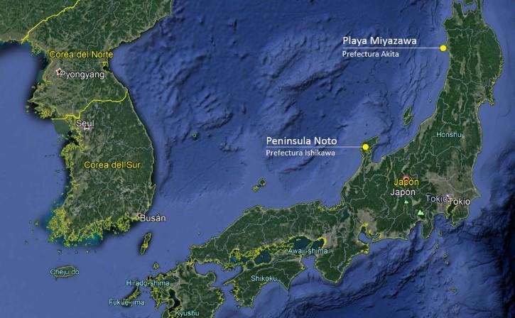zona embarcaciones perdidas corea del norte y japon