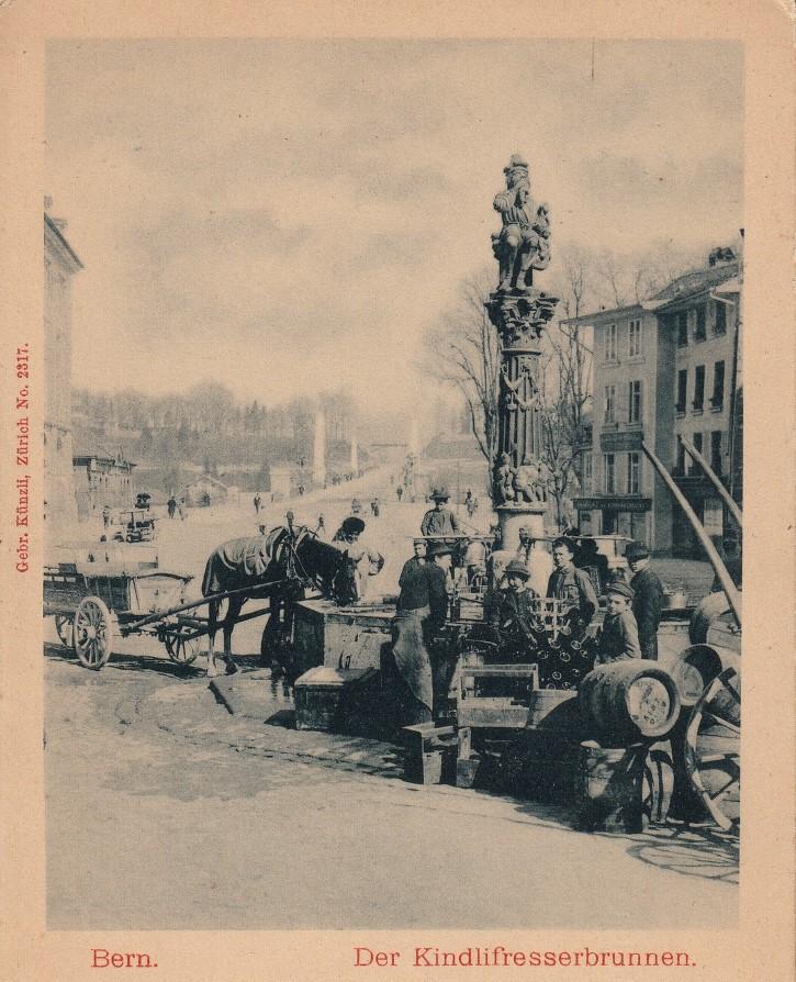 Kindlifresserbrunnen fotografia circa 1900