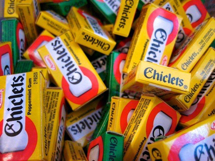 cajas de chiclets